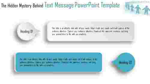 text message powerpoint template - callouts