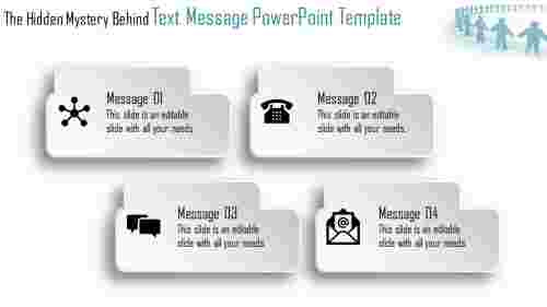 text message powerpoint template  with icons
