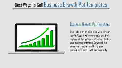 business growth ppt templates - increasing graph