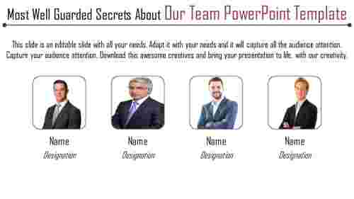 our team powerpoint template - represent your team