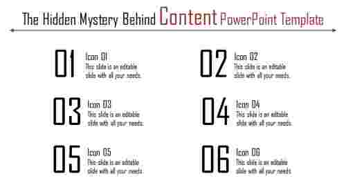 content powerpoint template - numerical