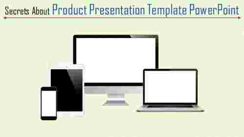 A four noded product presentation template powerpoi
