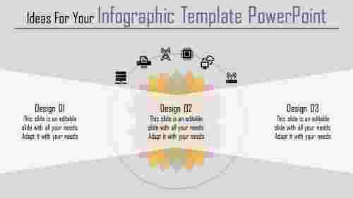 A three noded infographic template powerpoint