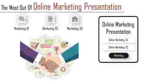 Online Marketing Presentation with Three stages