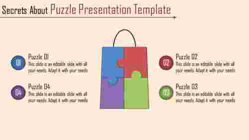 A four noded puzzle presentation template