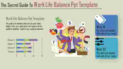 A two noded work life balance PPT template