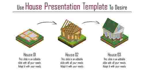 Three noded house presentation template