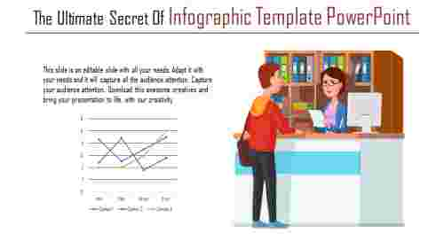 A one noded infographic template powerpoint