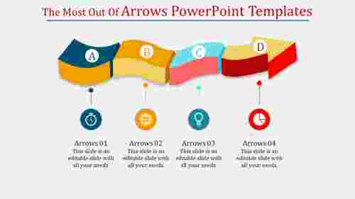Wave arrows powerpoint templates