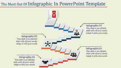 A four noded infographic in powerpoint template