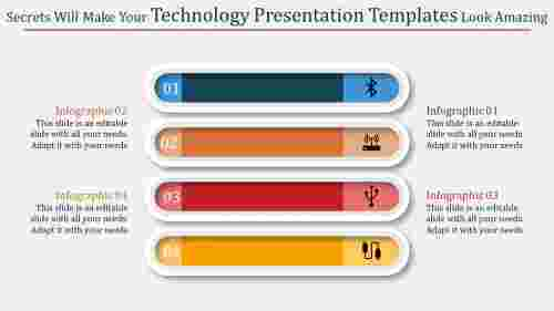 A four noded technology presentation templates