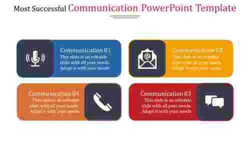 Communication powerpoint template with icons