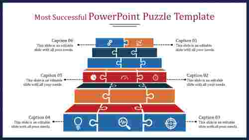 A eight noded powerpoint puzzle template