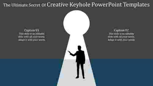 CreativekeyholepowerpointtemplateswithSilhouette