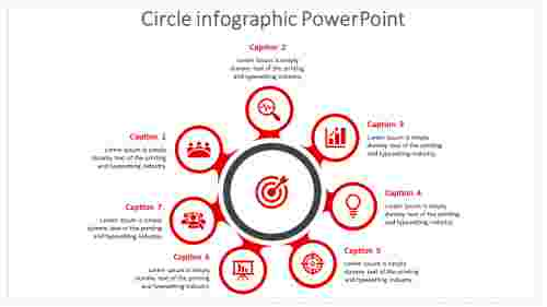 Connected Diagram Circle Infographic Powerpoint