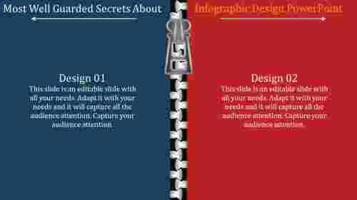 A two noded infographic design powerpoint