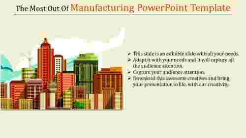 A one noded manufacturing powerpoint template