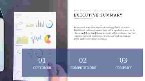 executive summary template ppt