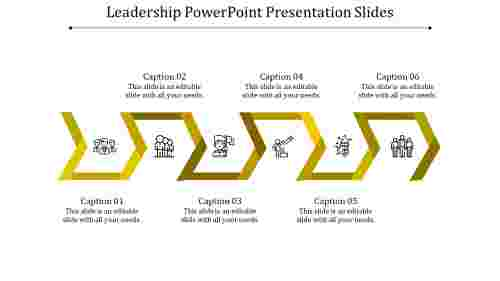 A six noded leadership powerpoint presentation slides