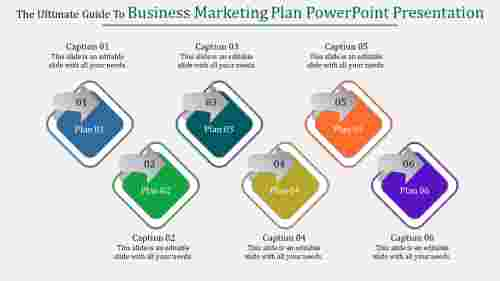 A six noded business marketing plan powerpoint presentation