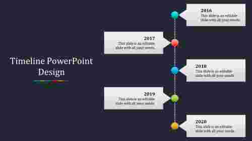 clamped timeline powerpoint design