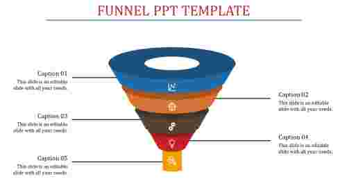 Funnel powerpoint template - Analysis diagram