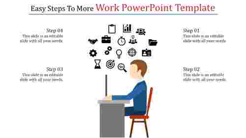 A four noded work powerpoint template
