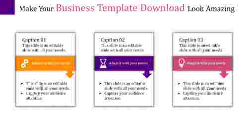 A three noded business template download