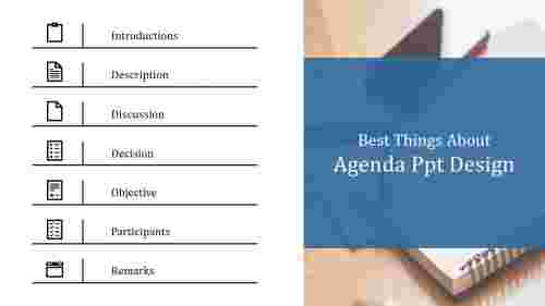 A seven noded agenda PPT design