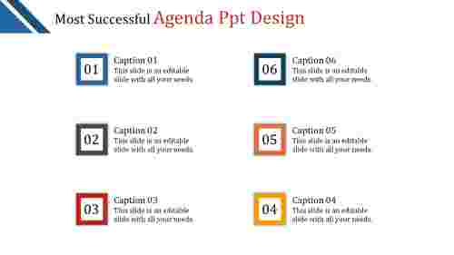 A six noded agenda PPT design