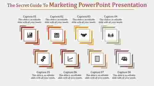 A eight noded marketing powerpoint presentation