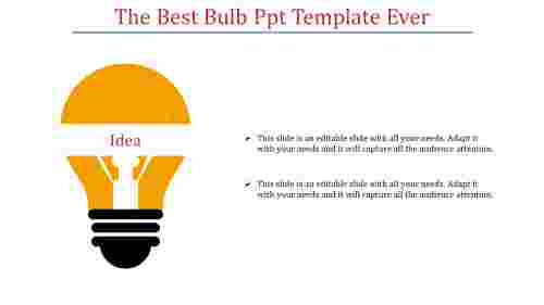A two noded bulb PPT template