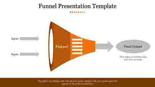 Process funnel presentation template