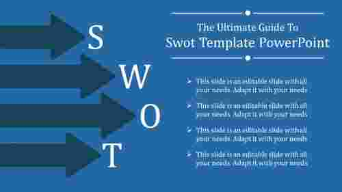 SWOT template powerpoint-arrow diagram