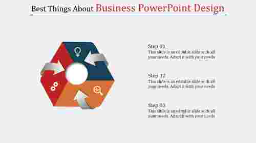 A three noded business powerpoint design