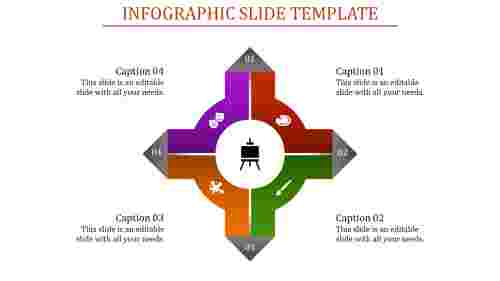 A four noded infographic slide template