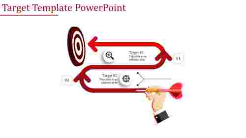 Target template powerpoint - Zigzag Model