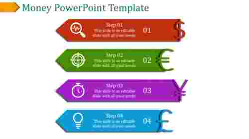 A four noded money powerpoint template
