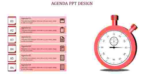 Successful powerpoint agenda slide template