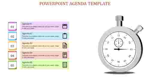 powerpoint agenda template-powerpoint agenda template-5-Multicolor