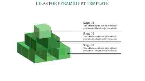 pyramid ppt template-Green