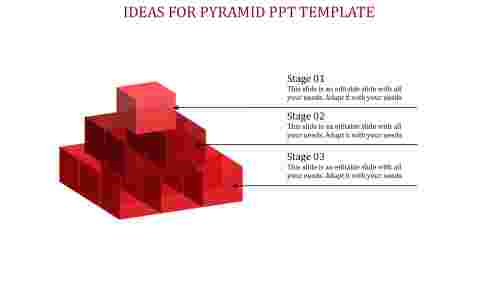pyramid ppt template-Red