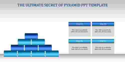 pyramid ppt template-Blue