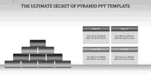 pyramid ppt template-Gray