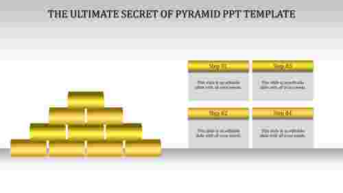 pyramid ppt template-Yellow