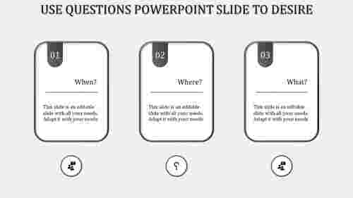 questions powerpoint slide-Gray
