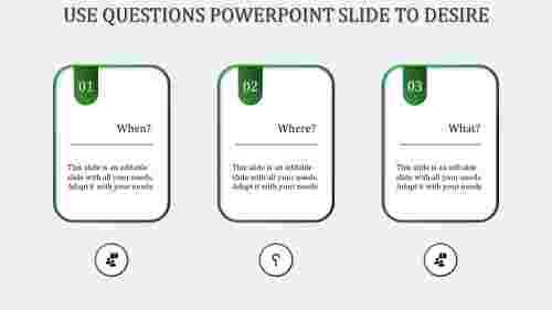 questions powerpoint slide-Green