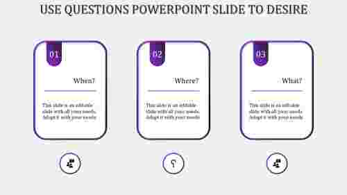 questions powerpoint slide-Purple