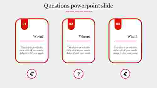 questions powerpoint slide-Red
