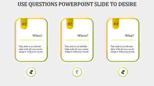 questions powerpoint slide-Yellow